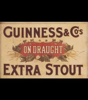 Extra Stout on Draught showcard, c. 1890s