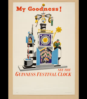 See the Guinness Festival Clock, 1951
