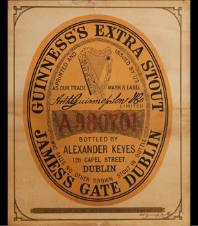 GUINNESS Extra Stout label poster, 1898
