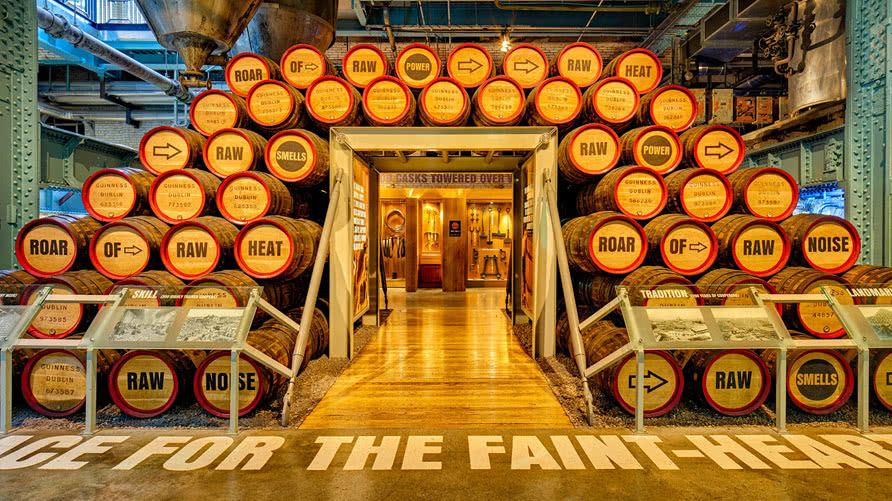 Barrels in Guinness Storehouse