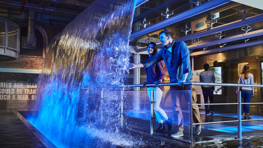 Waterfall in Guinness Storehouse
